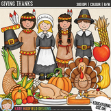 "Thanksgiving Clip Art: ""Giving Thanks"""