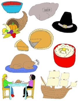 Thanksgiving Clip Art:  32 PNGs
