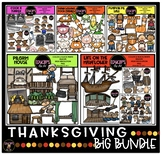 Thanksgiving Clip Art Big Bundle {Educlips Clipart}