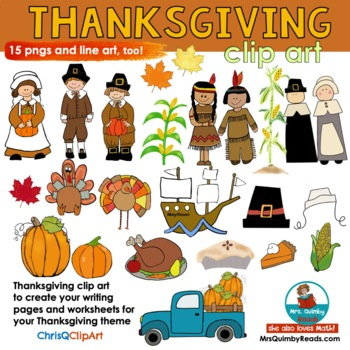 Thanksgiving Clip Art | For Pages and Teacher Resources