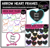 Arrow Heart Frames Clip Art Bundle {Educlips Clipart}