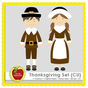 Thanksgiving Clip Art {Graphics for Commercial Use}