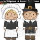 Thanksgiving Clip Art - Pilgrims and Native Americans {jen hart DESIGN Clip Art}