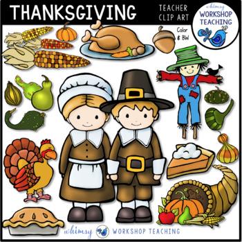Thanksgiving Clip Art Set (50 Graphics) Whimsy Workshop Teaching