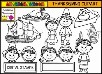 Thanksgiving Clip Art Set - Commercial Use Okay!