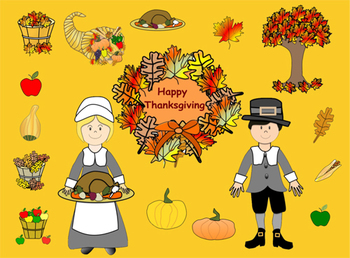 Thanksgiving Clip Art in png format with transparent backgrounds
