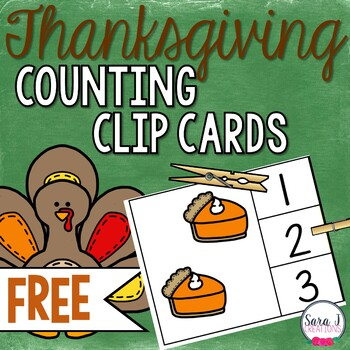 Thanksgiving Clip Cards FREE