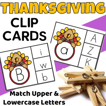 Thanksgiving Clip Cards {Letters}