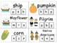 Thanksgiving Clip & Learn Beginning Sounds
