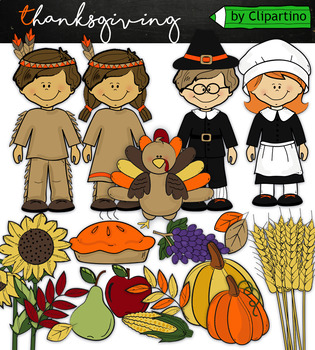 Thanksgiving Clip art #2+ outline