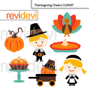 Thanksgiving Clip art Bundle / Thanksgiving day blessing clipart