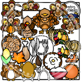 Thanksgiving Clipart MEGA Bundle