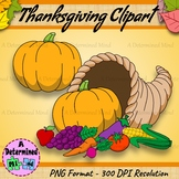 Thanksgiving Clipart - Cornucopia | Plymouth Rock | Mayflower