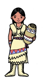 Thanksgiving Clipart - Historically Accurate Clothing - Pilgrims and Indians