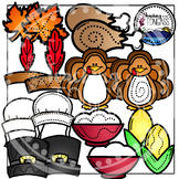 Thanksgiving Clipart Interactive Bundle