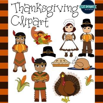 Thanksgiving Clipart {L.E. Desings}
