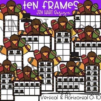 Thanksgiving Clipart - Math Ten Frames {Jen Hart Clipart}
