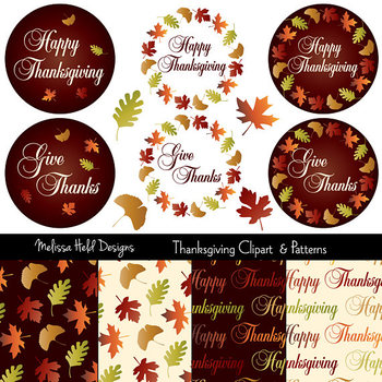 Thanksgiving Clipart & Patterns