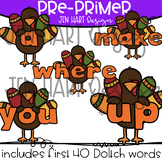 Thanksgiving Clipart - Pre-Primer Sight Word Clip art  {Jen Hart Clipart}