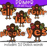 Thanksgiving Clipart - Primer Sight Word Clip art  {Jen Hart Clipart}