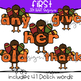 Thanksgiving Clipart - Sight Word Bundle {Jen Hart Clipart}