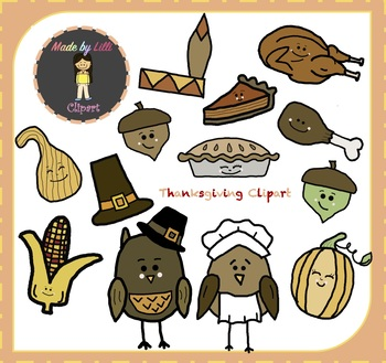 Thanksgiving Clipart / Thanksgiving Day Clipart