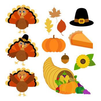 Thanksgiving Clipart, Turkey Clipart, Fall Clipart, Autumn Clipart