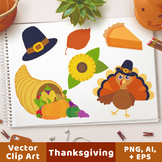 Thanksgiving Clipart, Turkey Clipart, Fall Clipart, Autumn