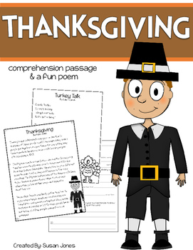 Thanksgiving Close Reading Passage & Poem