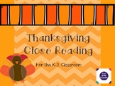 Thanksgiving Close Reading