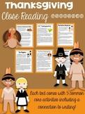 Thanksgiving Close Reading Bundle (6 Passages!)