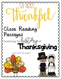 Thanksgiving Close Reading and Fun