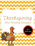 Thanksgiving Close Reads Pack