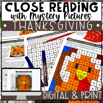 Thanksgiving Reading Comprehension | Thanksgiving Activities | Close Reading