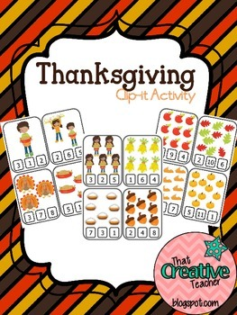 Thanksgiving Clothespin Activity
