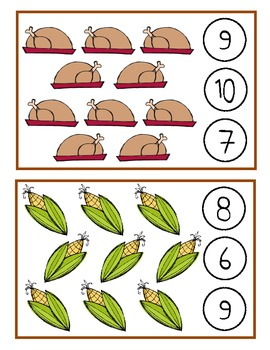 Thanksgiving Clothespin Counting Game