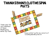 Thanksgiving Clothespin Mats English and Spanish
