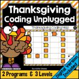 Thanksgiving Coding Unplugged