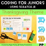 Thanksgiving Coding for Juniors – Using Scratch Jr, notes, answer key