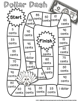 Thanksgiving Math: Coins and Money {Page Protector Printables}