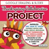 Thanksgiving Digital Collaborative Project for Google Slides and Drawing
