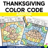 Thanksgiving Color By Code - Addition