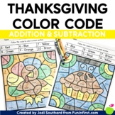 Thanksgiving - Addition and Subtraction Bundle - Color by Code