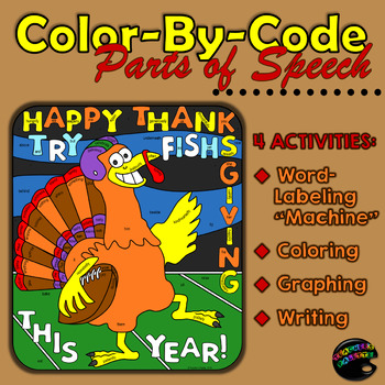 Parts of Speech: Sentence Structure, Coloring, Graphing, Writing [November Ed.]