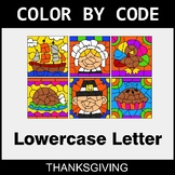 Thanksgiving: Color By Letter (Lowercase)