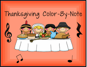 *TWO* Thanksgiving Color-By-Note Worksheets