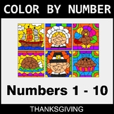 Thanksgiving Color By Number 1 - 10