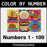 Thanksgiving Color By Number 1 - 100