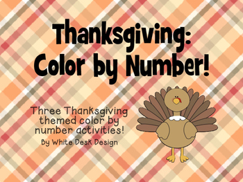 Thanksgiving: Color By Number