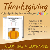 Fun Coloring Page November Math Kindergarten, Math Thanksgiving Counting Sheets
